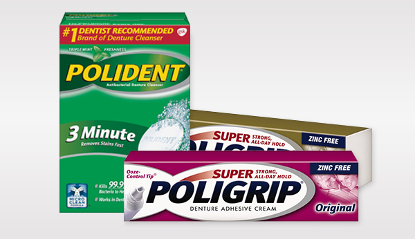 Polident and Super Poligrip Products