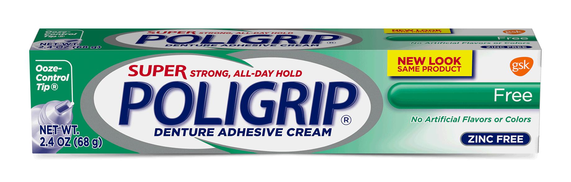 Super Poligrip® Free Denture Adhesive | MyDentureCare
