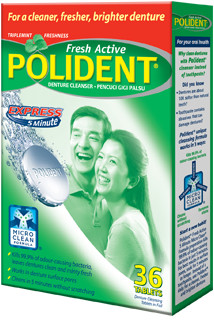 POLIDENT 5-minute express denture cleanser
